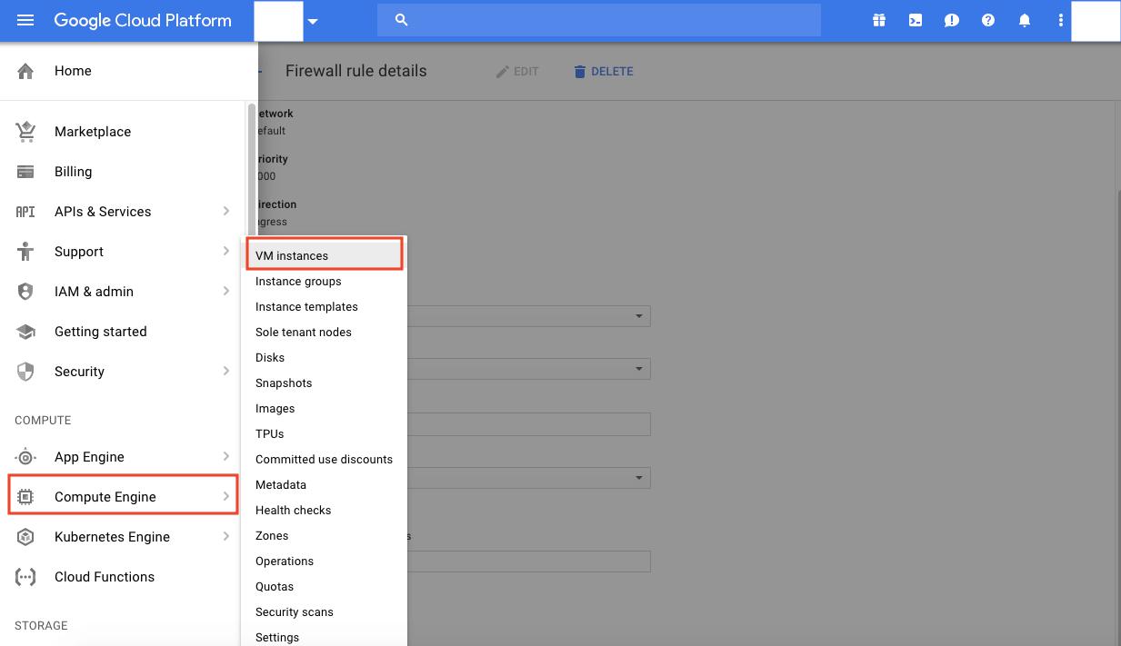 Google Cloud Platform VM instances
