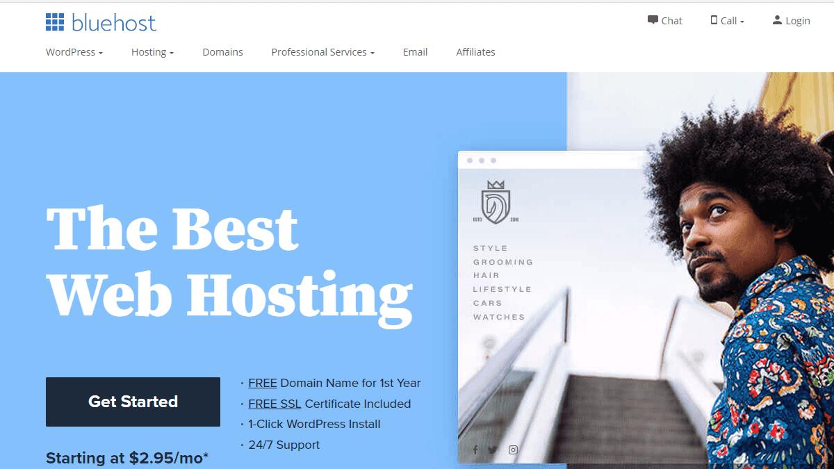 Bluehost 主機評價 - 每月 $2.95 美元,4 折 60% OFF 優惠續約折扣,WordPress 官方推薦虛擬主機
