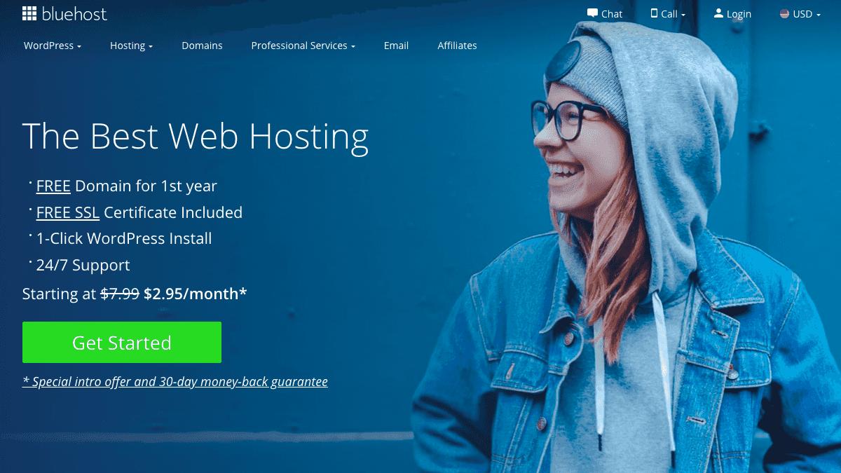 Bluehost 獨家優惠每月低至 $2.95 美元