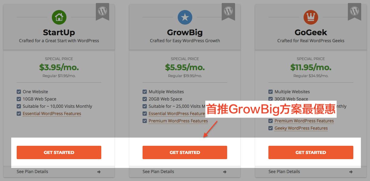 選擇「GrowBig」方案