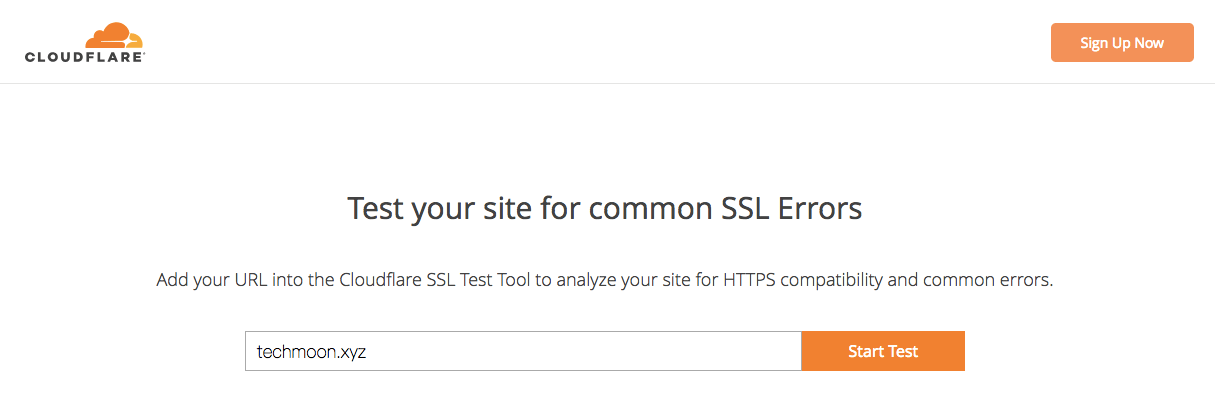 CloudFlare SSL Test Start Test