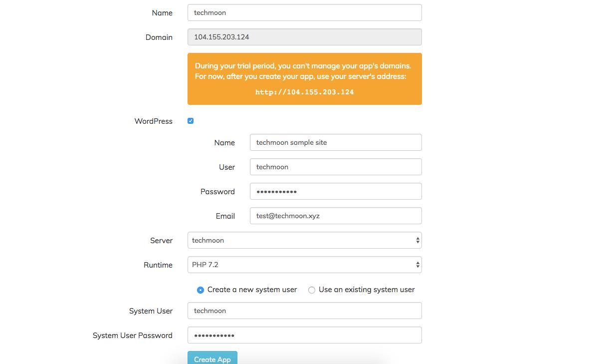 在ServerPilot上安裝WordPress設置相關資訊