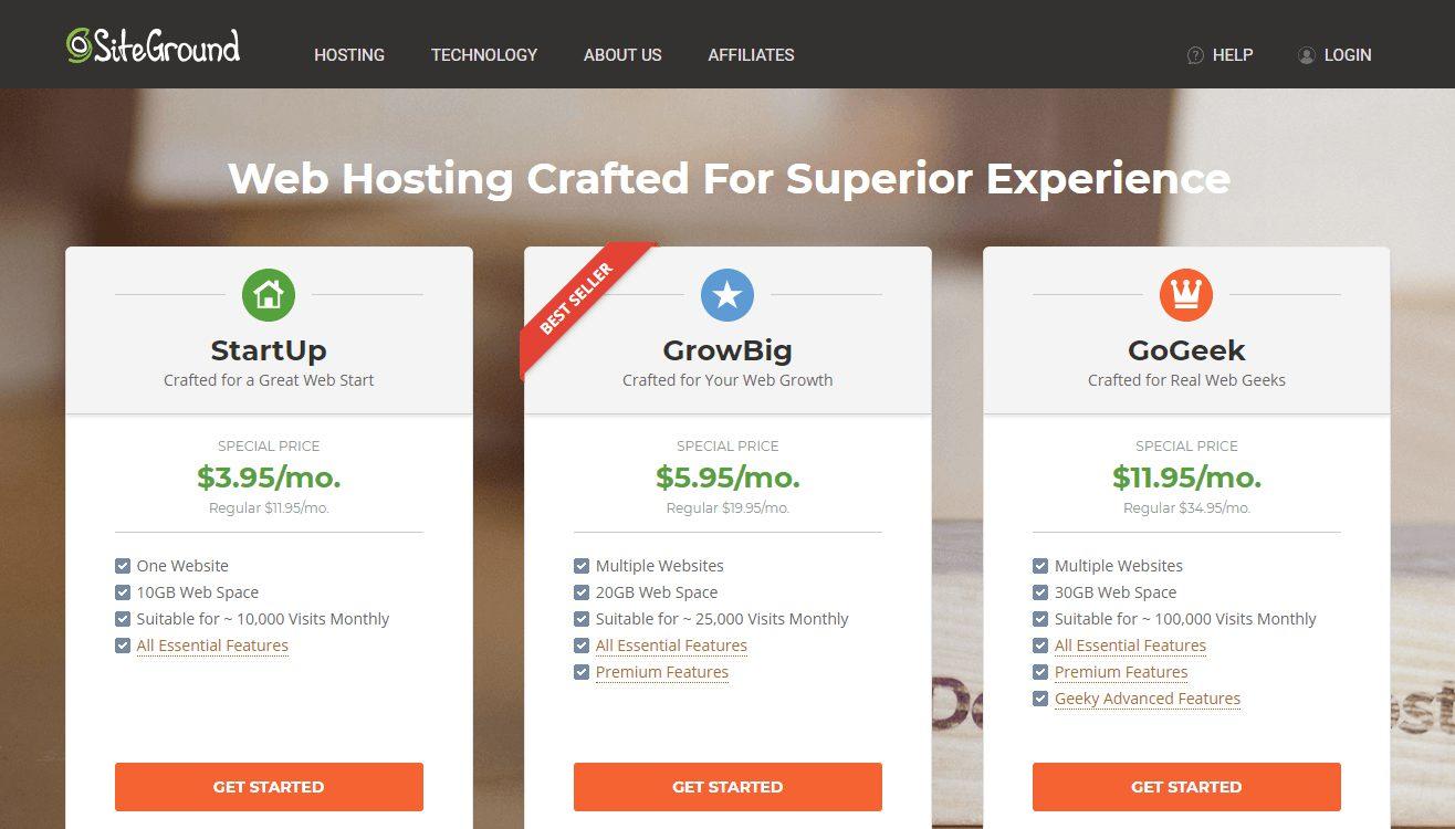 SiteGround 虛擬主機服務商