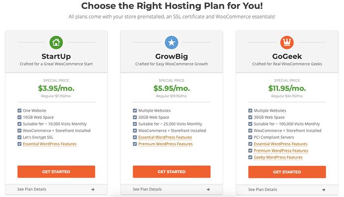 SiteGround WooCommerce 主機方案