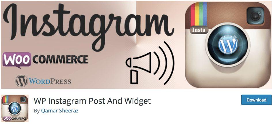 WP Instagram Post And Widget