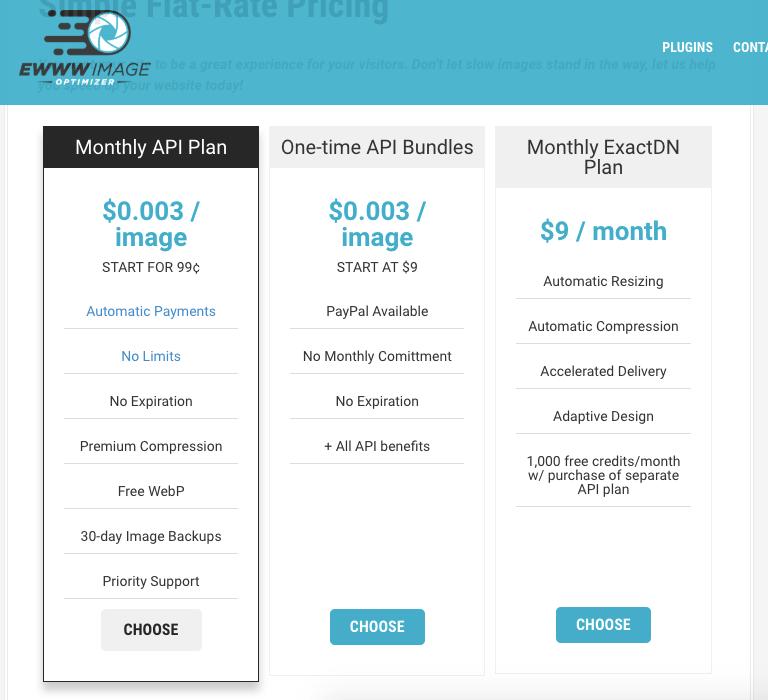EWWW Image Optimizer 的價格