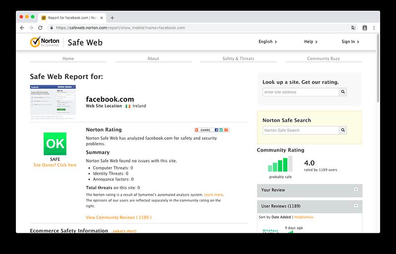 Norton Safe Web 線上免費檢測網址安全性,保護你的網站免受病毒侵害