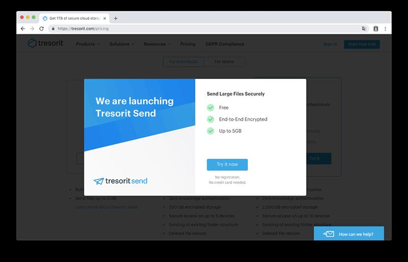 Tresorit Send 線上免費空間傳檔服務,採用 AES-256 加密協議給予檔案最高的安全性