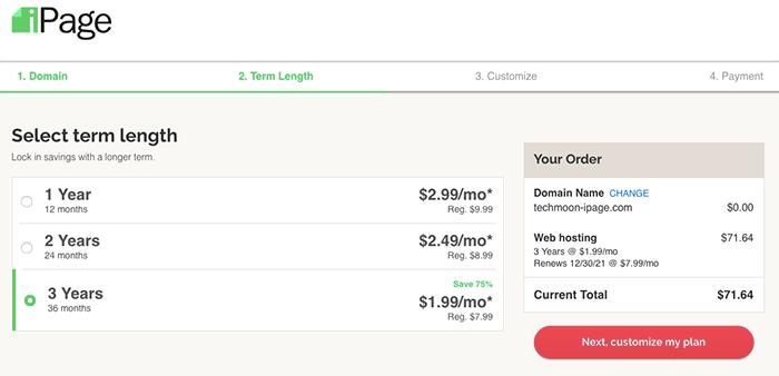 iPage Hosting 主機 12 個月、24 個月、36 個月方案價格