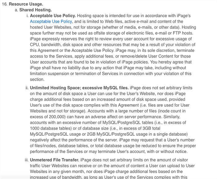 iPage 使用者協議