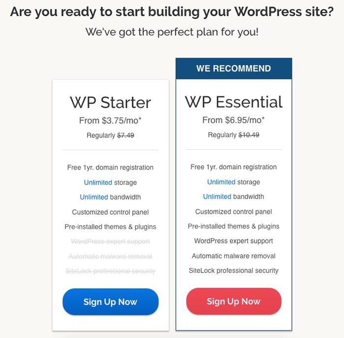 iPage WordPress 專用主機