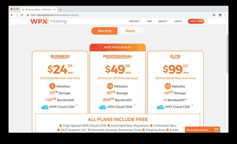 WPX 主機每月託管價格