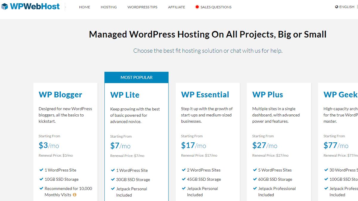 WPWebHost 主機評價 - WordPress 虛擬主機評價,每月 $3 美元就可輕鬆建立 WordPress 網站