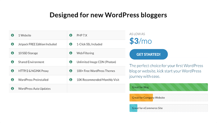 WPWebHost WordPress Blogger 方案