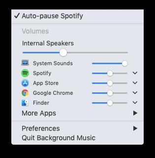 BackgroundMusic 可以讓 macOS 獲得像 Windows 一樣,獨立控制所有程式音量大小的功能