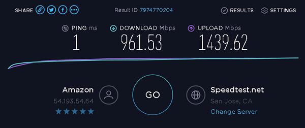 Glyptodon Enterprise 網路速度的上傳與下載非常快