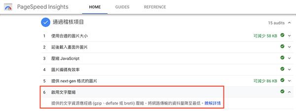 透過 Google PageSpeed Insights 可檢測網站是否啟用 GZIP 壓縮