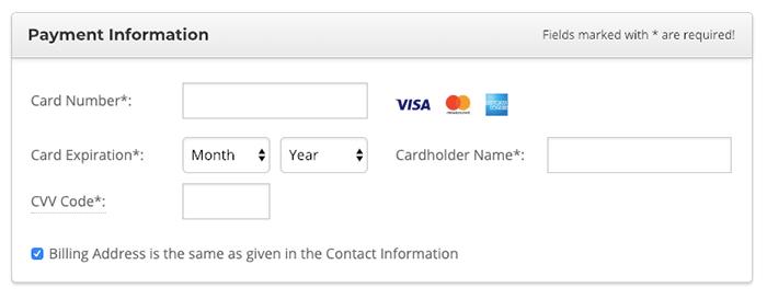 SiteGround 目前僅支持信用卡付款