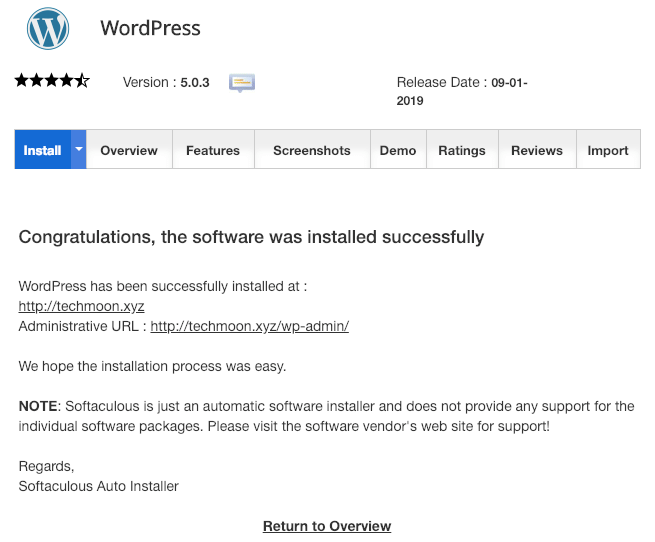 SiteGround WordPress 一鍵安裝完成