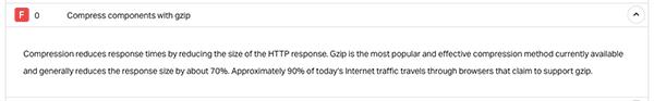 透過 Pingdom Tools 可檢測網站是否啟用 GZIP 壓縮