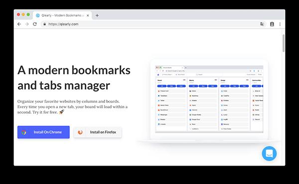 Qlearly - 看板樣式的書籤管理工具,讓你 Chrome、FireFox 的書籤管理更有效