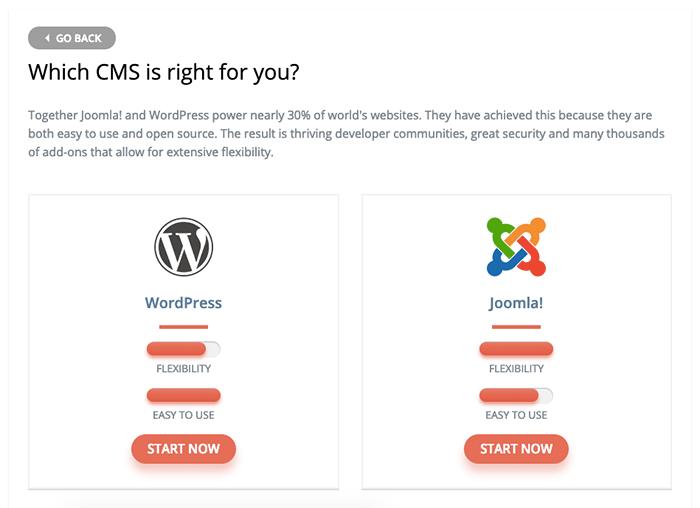 選擇安裝 WordPress 或是 Joomla,這裡強烈建議選擇 WordPress