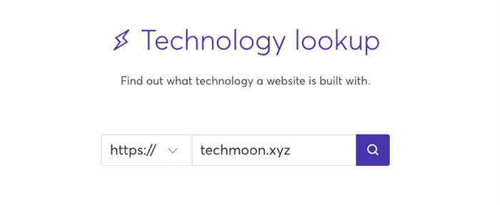 進入 Wappalyzer 後,在搜尋框之內輸入網址,就能分析出網站架設所使用的所有技術。