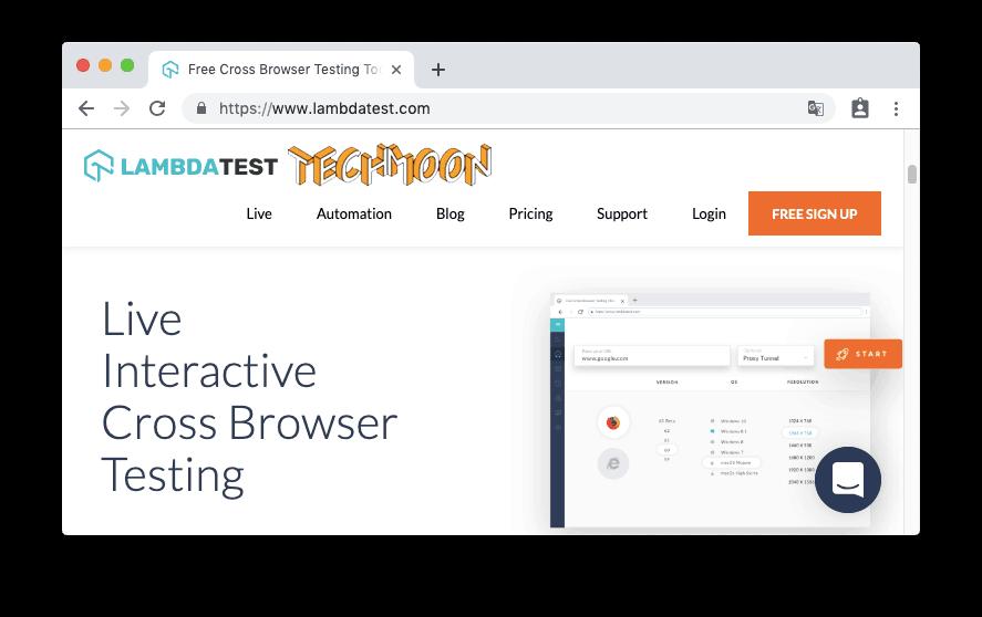 LambdaTest - 瀏覽器相容性測試工具,檢測你的網站在所有平台裝置上的相容性