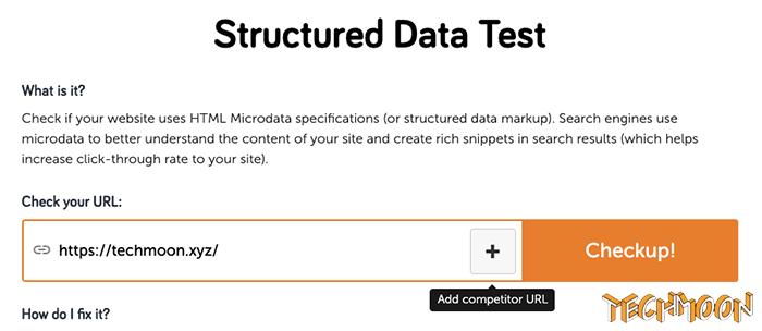 由 SEO Site Checkup 所提供的結構化資料檢測工具(Structured Data Test Tool)