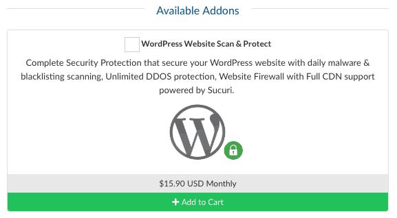 WPWebHost 提供額外的 WordPress 網站掃描與安全防護