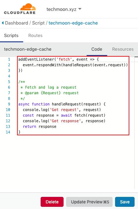 先將 Script 當中預設的程式碼刪除