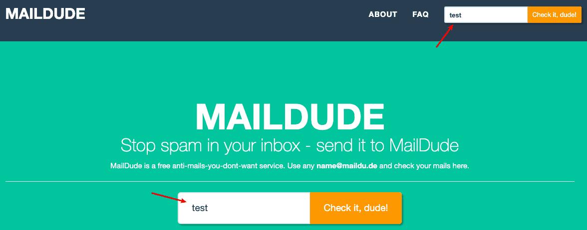 輸入信箱名稱,即可進入收件夾