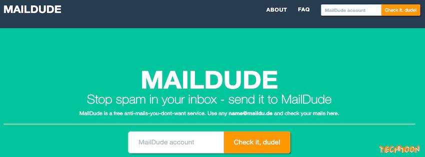 MailDude - 提供臨時信箱幫助你阻擋垃圾信件的好幫手!