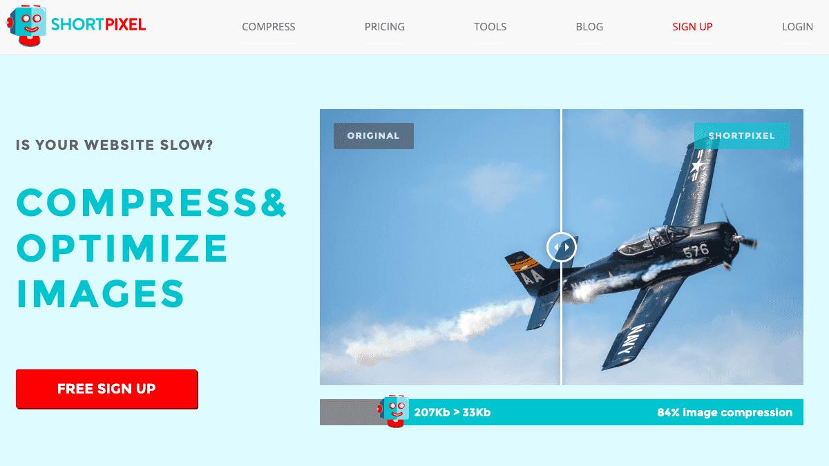 ShortPixel - 免費線上圖片壓縮服務,高壓縮比率且圖片不失真,支援 WordPress 外掛自動優化上傳圖片!