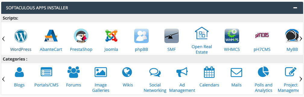 cPanel 一鍵安裝 WordPress