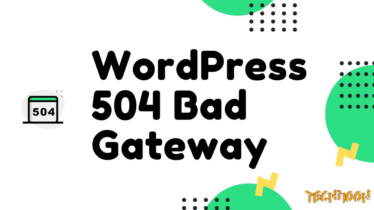 WordPress 出現 504 Gateway Timeout Error 解決方法?
