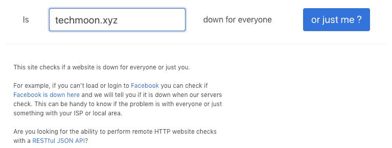 使用「downforeveryoneorjustme」來檢查是否只有你無法訪問網站