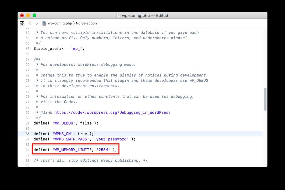 透過 wp-config 檔案增加 PHP 內存記憶體上限