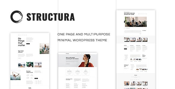 【WordPress 付費主題免費下載】Structura - Minimal One Page Theme