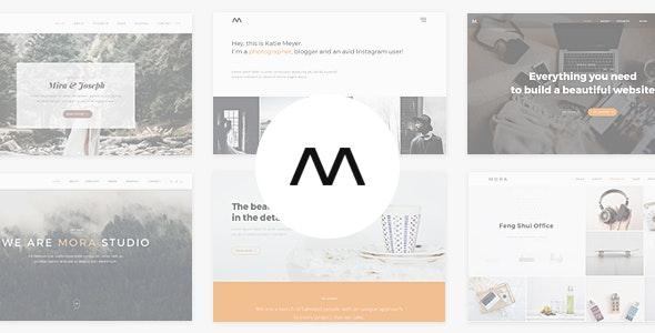 【WordPress 付費主題免費下載】Mora - Creative Portfolio & Photography Theme