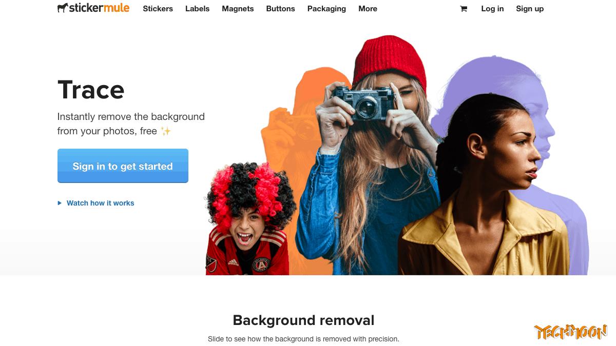 Trace - 免費線上快速去背工具,內建背景換色換景功能