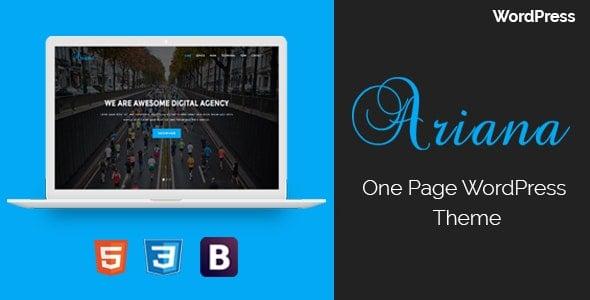 【WordPress 付費主題免費下載】Ariana - Digital Agency One Page WordPress Theme