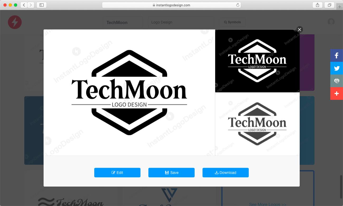 編輯、儲存、下載 Logo