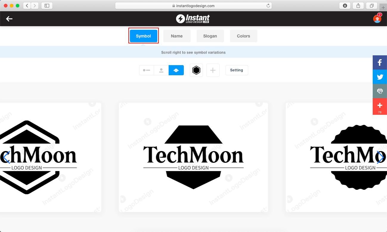 Symbol 可以更換 Logo 的圖形象徵