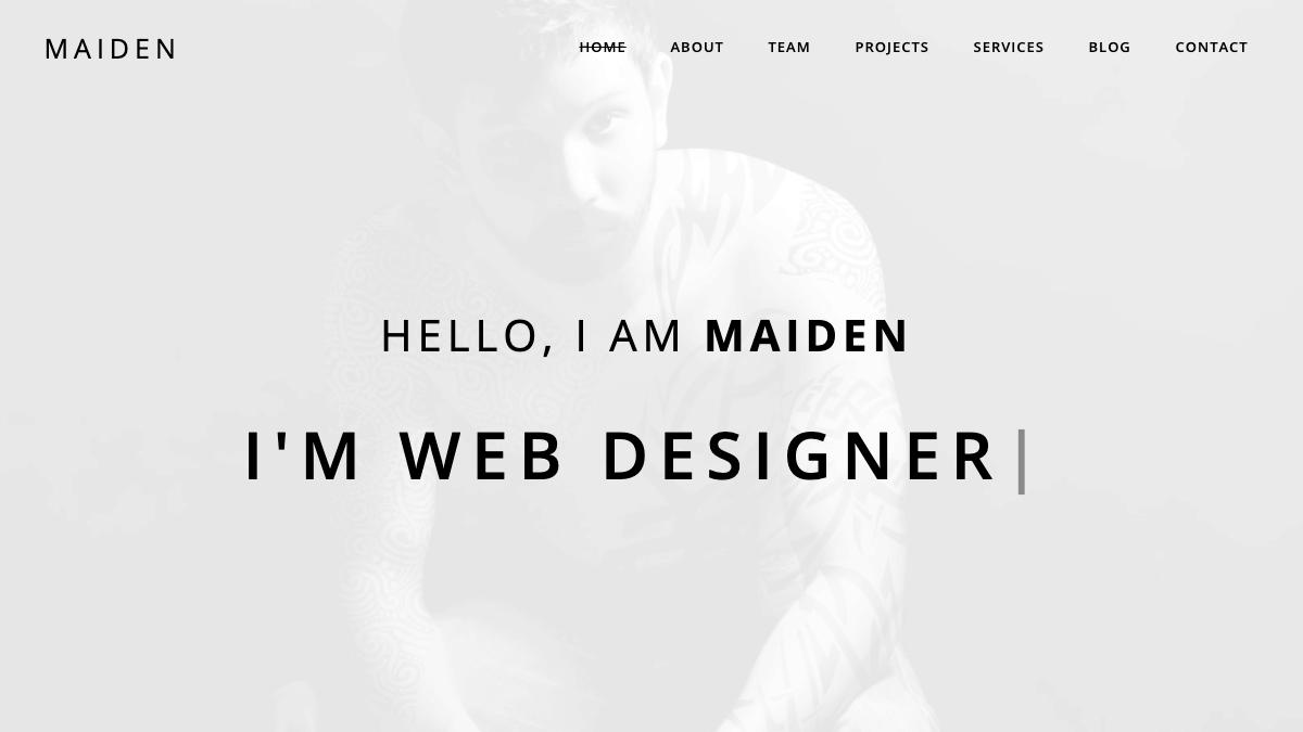 【WordPress 付費主題免費下載】Maiden - Responsive One Page Portfolio WordPress Theme
