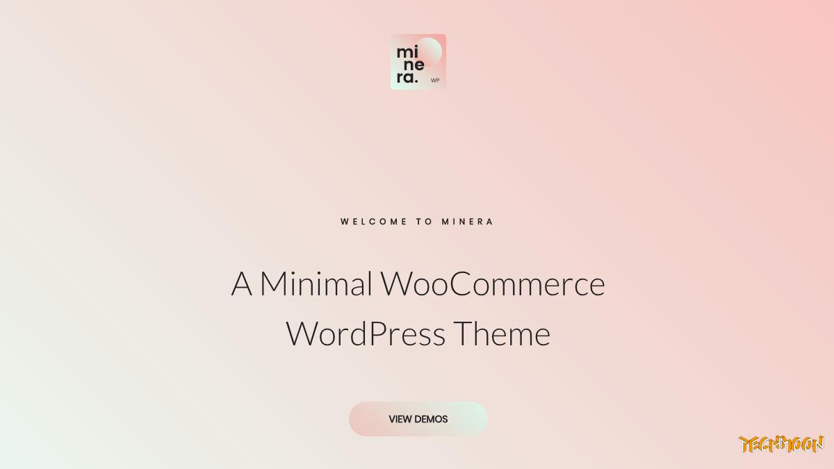 【WordPress 付費主題免費下載】Minera - Minimalist WooCommerce WordPress Theme