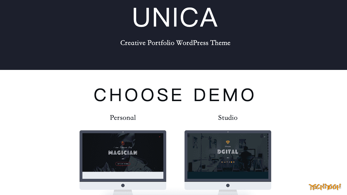 【WordPress 付費主題免費下載】Unica - Personal Resume and Portfolio Theme
