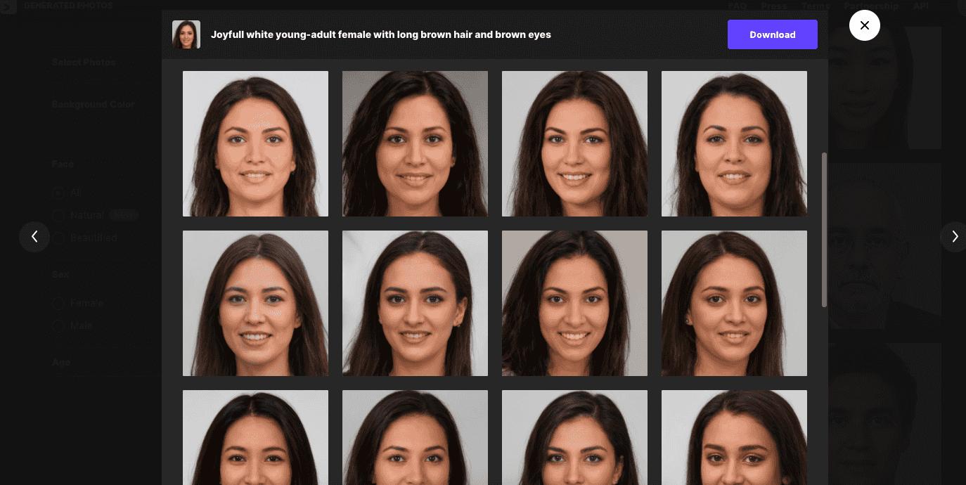 Generated Photos - 相似圖片