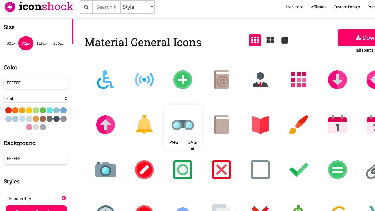 Iconshock - 多樣的圖標風格與顏色調整
