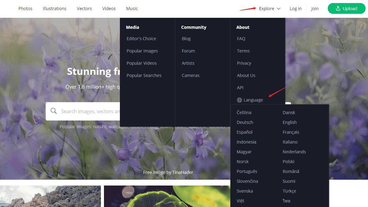 選擇適合的網站語言介面